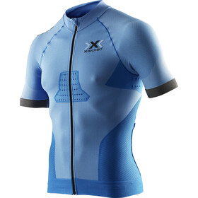 X-Bionic Race EVO Biking Jersey SS Men, marina blue/anthracite